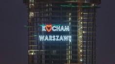 """Neon """"Kocham Warszawę"""""""