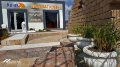 Projekt kostki brukowej - ogród pokazowy