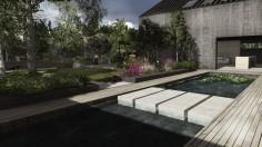 Nowoczesny ogród przydomowy