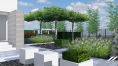 Nowoczesna geometria w ogrodzie