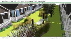 Projekt - teren wokół domków letniskowych