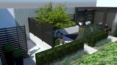 projekt małego ogrodu bez trawnika