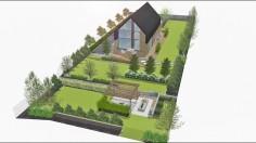 Projekt ogrodu w Brzynie