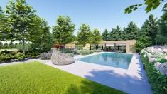 Projekt nowoczesnego ogrodu z basenem