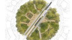 Projekt ogrodu miejskiego KWIATY NA RONDZIE POWSTAŃCÓW ŚLĄSKICH  we Wrocławiu