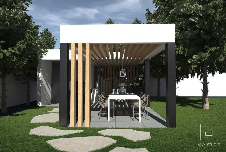 Nowoczesna Altana Ogrodowa Projekt Q Housepl