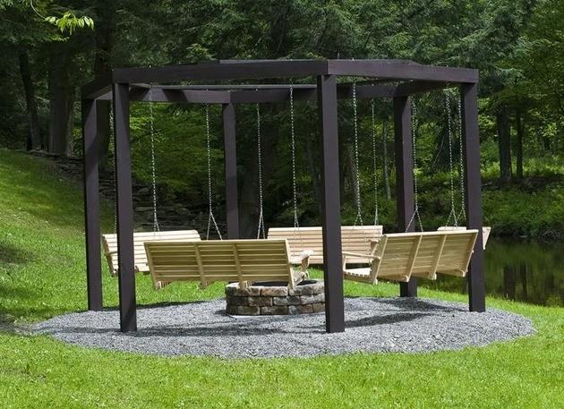 Niesamowity relaks w ogrodzie trendy w architekturze for How to make a metal swing set frame
