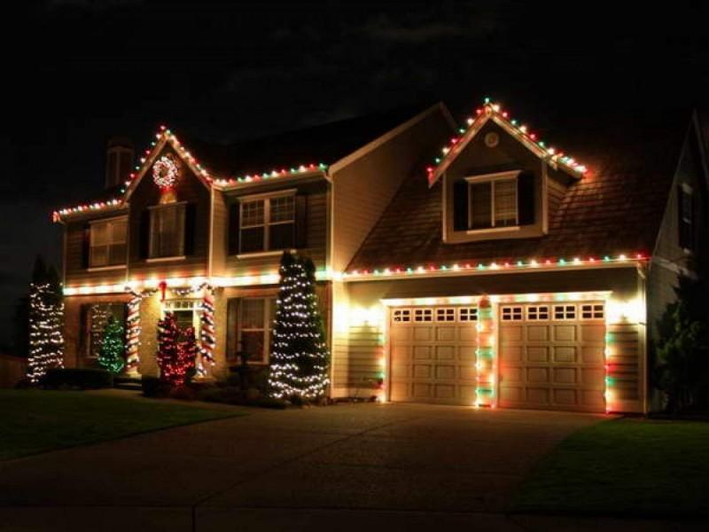 świąteczne Projektowanie I Oświetlenie Ogrodu Otoczenie